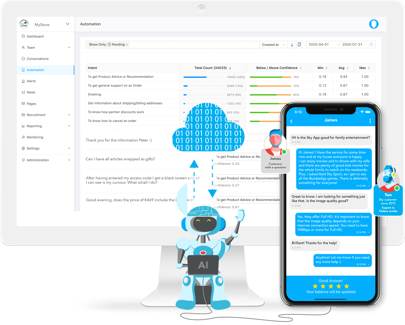 automated peer-to-peer live chat